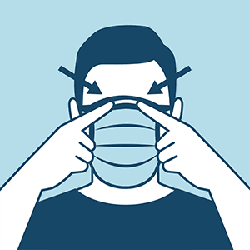 Image of facemask provided by the CDC